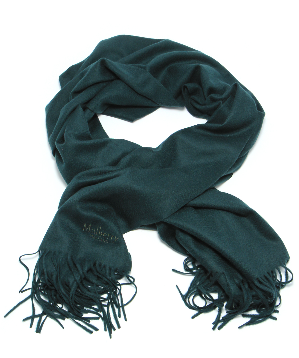 Mulberry Classic Scarf Bottle Green  243a89d60859e