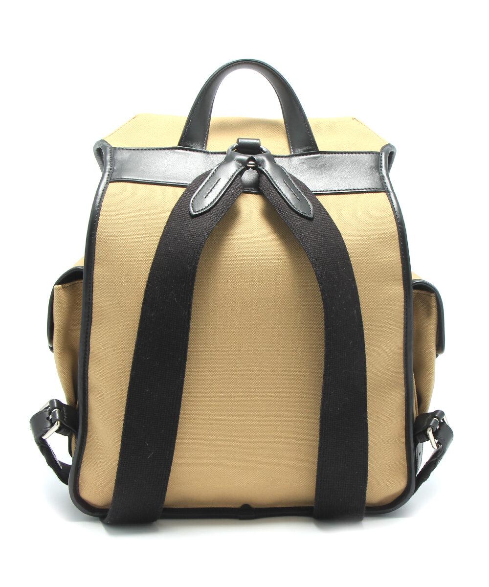 mulberry heritage backpack canvas black herr baksida