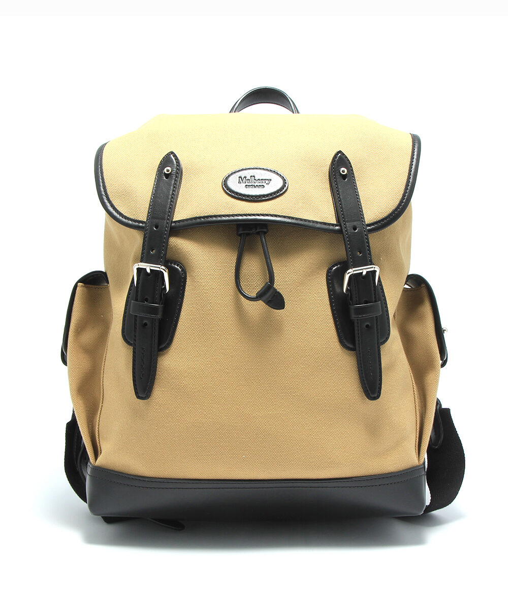 mulberry heritage backpack canvas black herr front