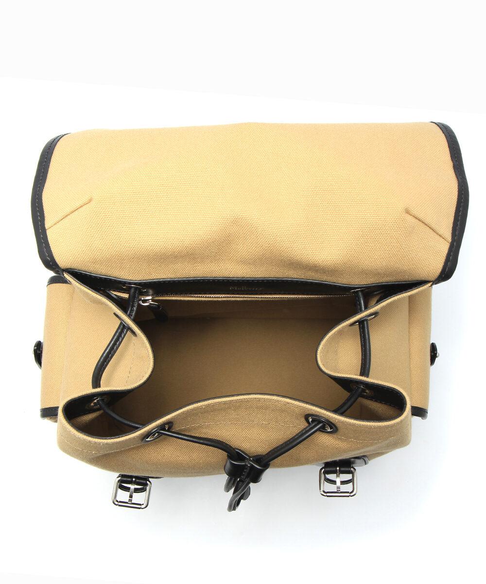 mulberry heritage backpack canvas black herr insida