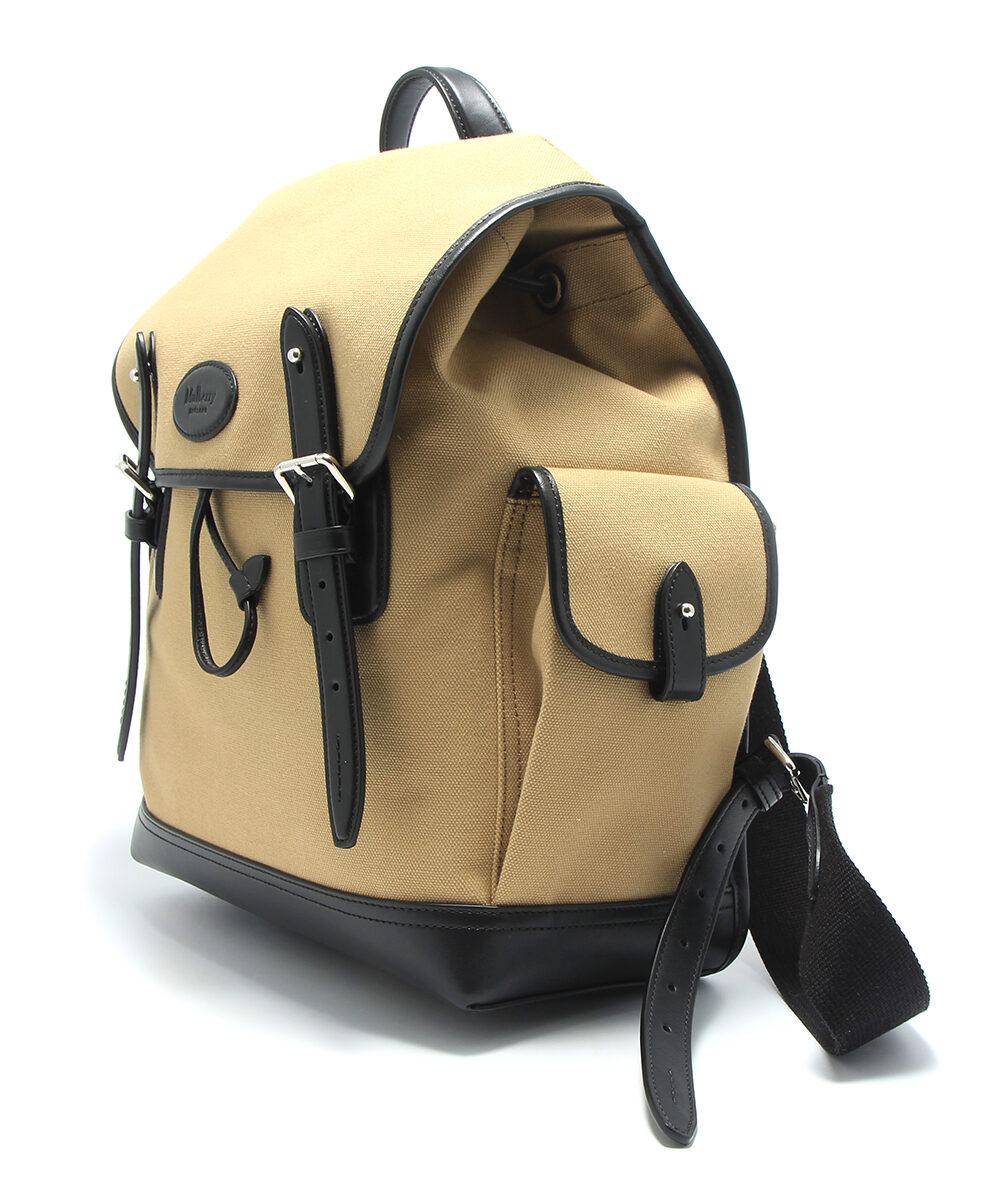 mulberry heritage backpack canvas black herr sida