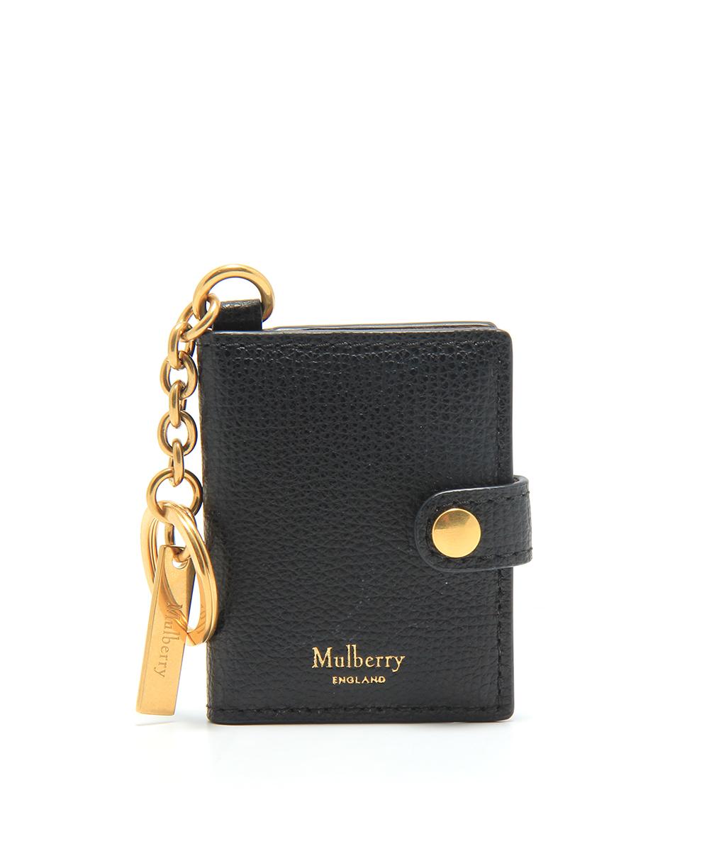 Mulberry Portrait Keyring Black  10f9f7e0279e1