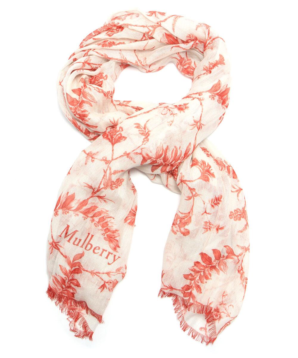 Röd vit sjal mulberry silke siden rea