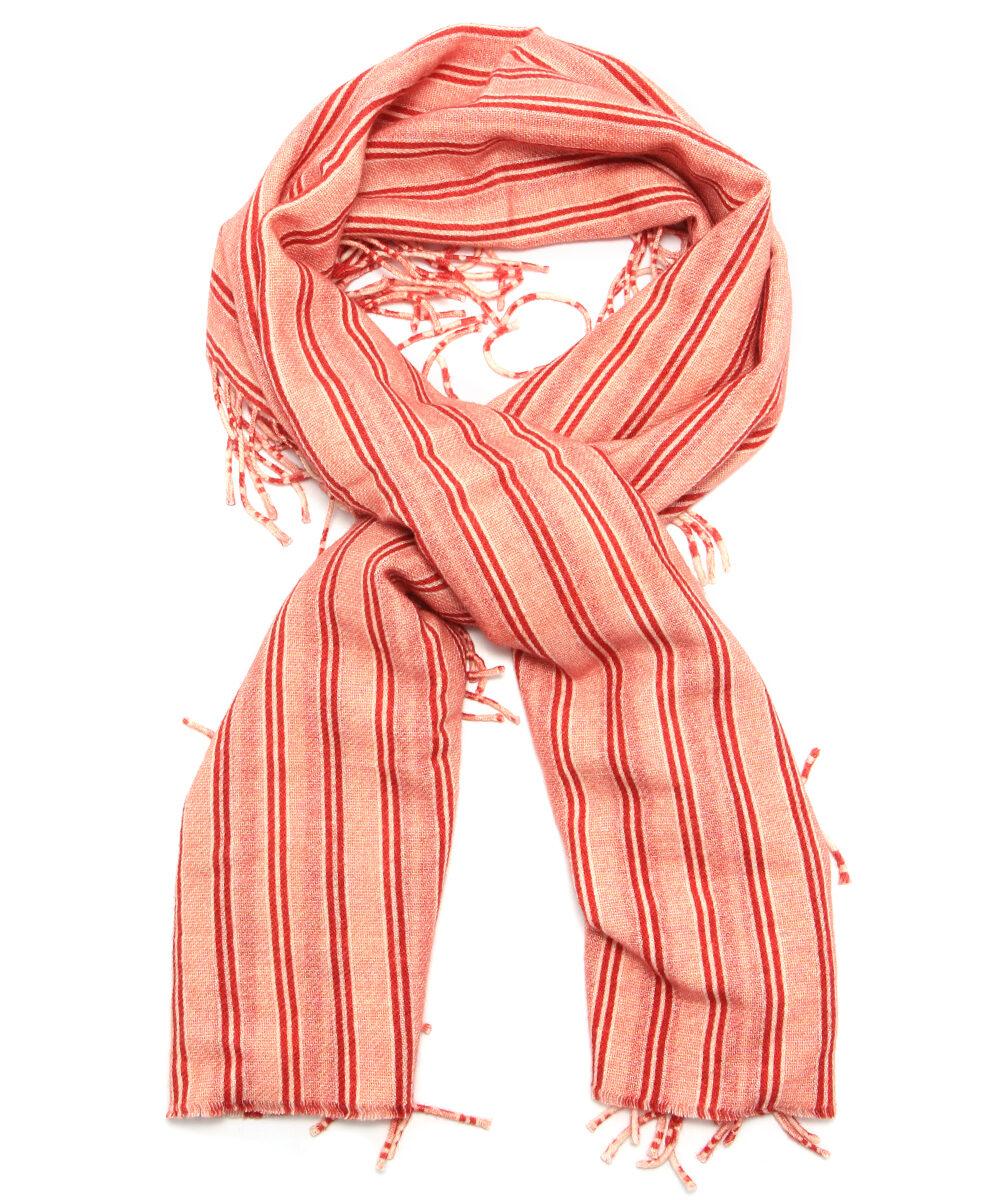 Röd Randig Balenciaga Scarf Sjal på rea