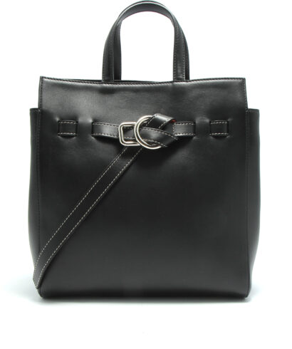 Little liffner little belted mini tote black front