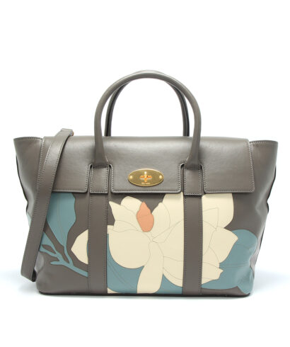 Mulberry Bayswater with strap flower front