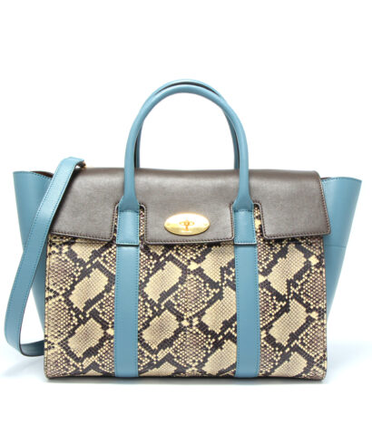 Mulberry-Bayswater with strap snake skin