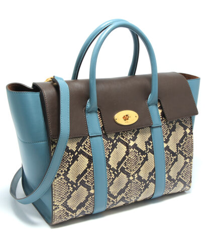 Mulberry Bayswater with strap snake skin