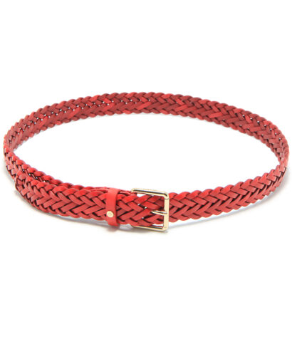 Mulberry Braided Belt Bright Red ML2372-153L101