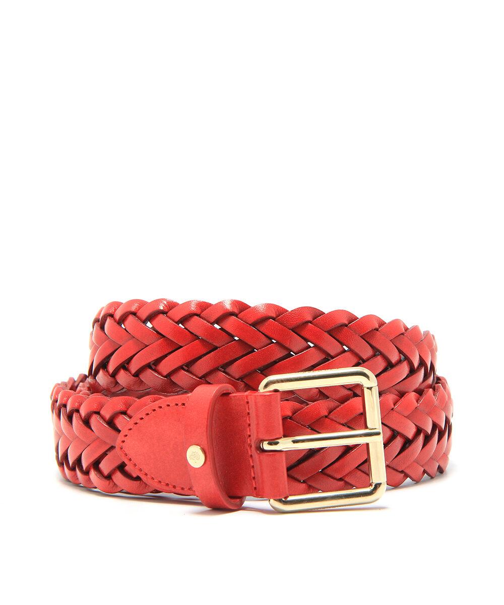 Mulberry Braided Belt Bright Red ML2372-153L101