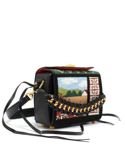 AMQ-Box-Bag-19-Embroidery-Black-491729DZQGM1099-Side