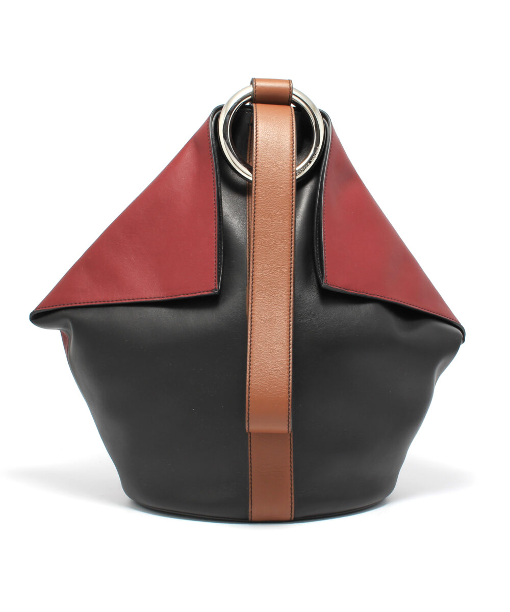 Alexander McQueen-Butterfly-Bag-Black-Tan-Designerväska Rea