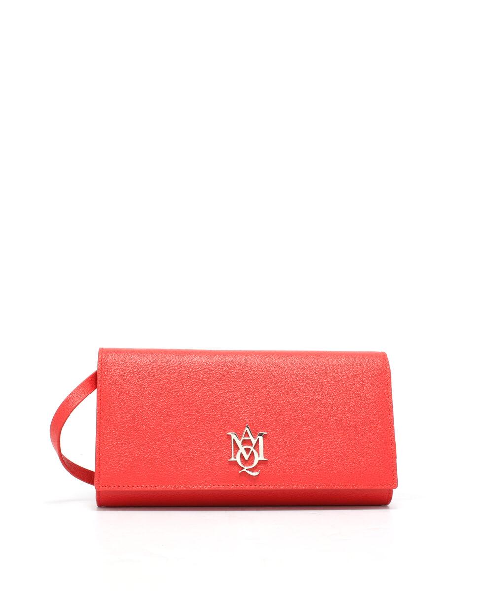 Alexander McQueen-Insignia-Lth-Pouch-China-Red-Designerväska Rea