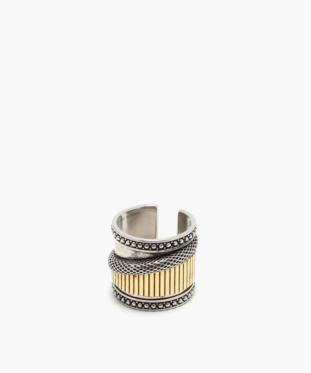 Alexander mcqueen ring rea sale gold silver