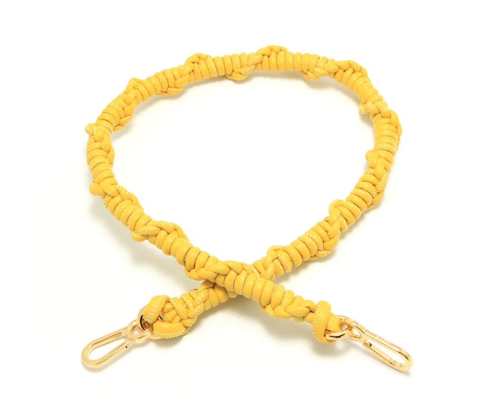 Loewe-Braided-Shoulder-Strap-Yellow-32599BR43-8100-Front