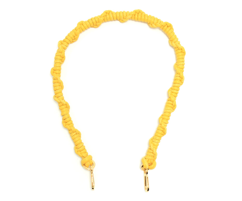 Loewe-Braided-Shoulder-Strap-Yellow-32599BR43-8100