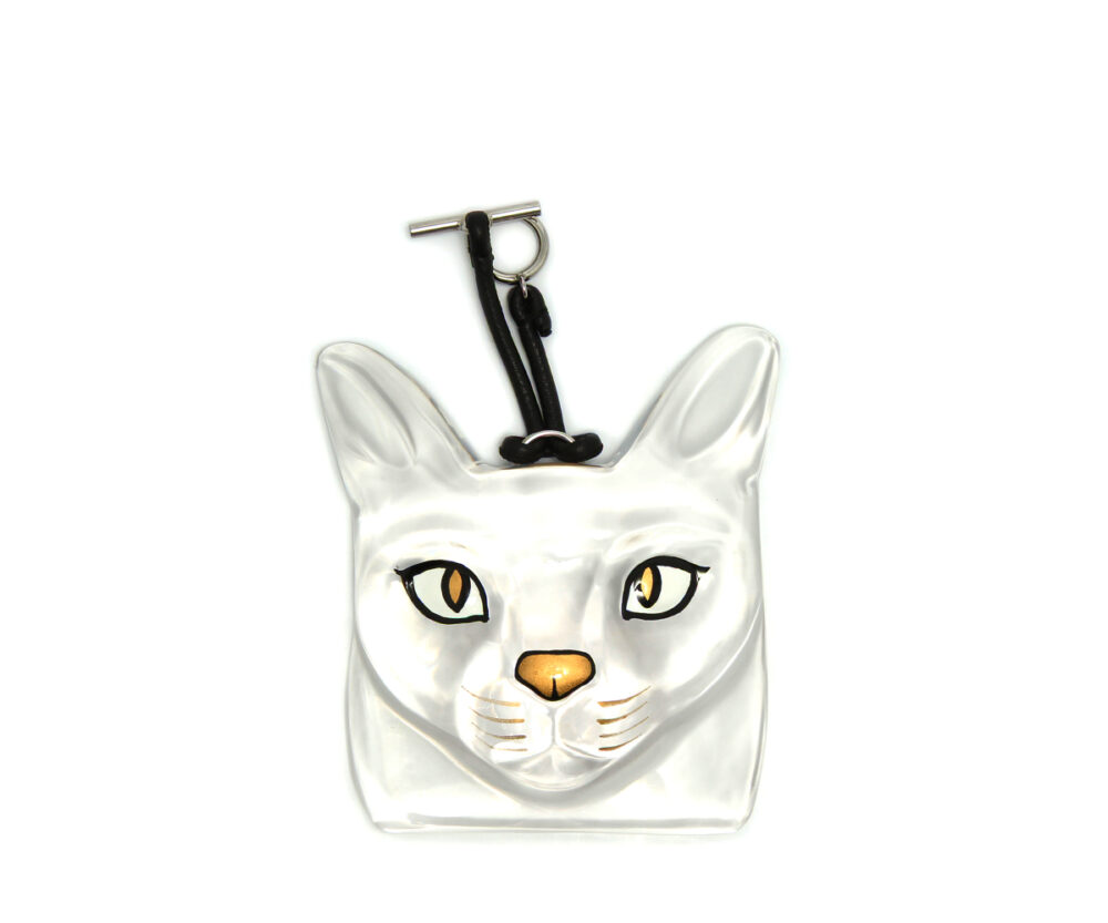 Loewe-Cat-Face-Charm-Transparent-11026012-9980-Front