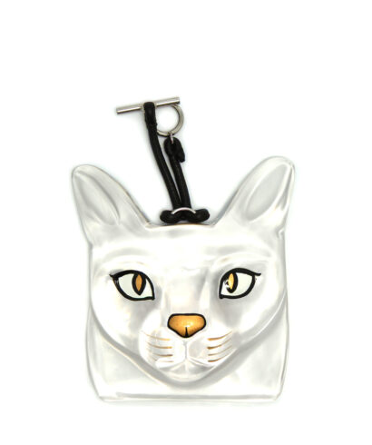 Loewe-Cat-Face-Charm-Transparent-11026012-9980-Front