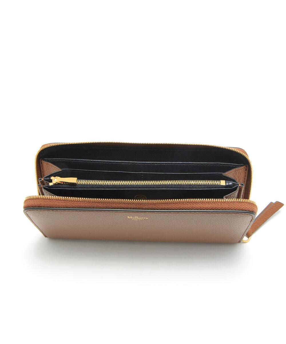 Mulberry-8CC-Zip-Around-Wallet-Oak-RL4887-205G110-inside