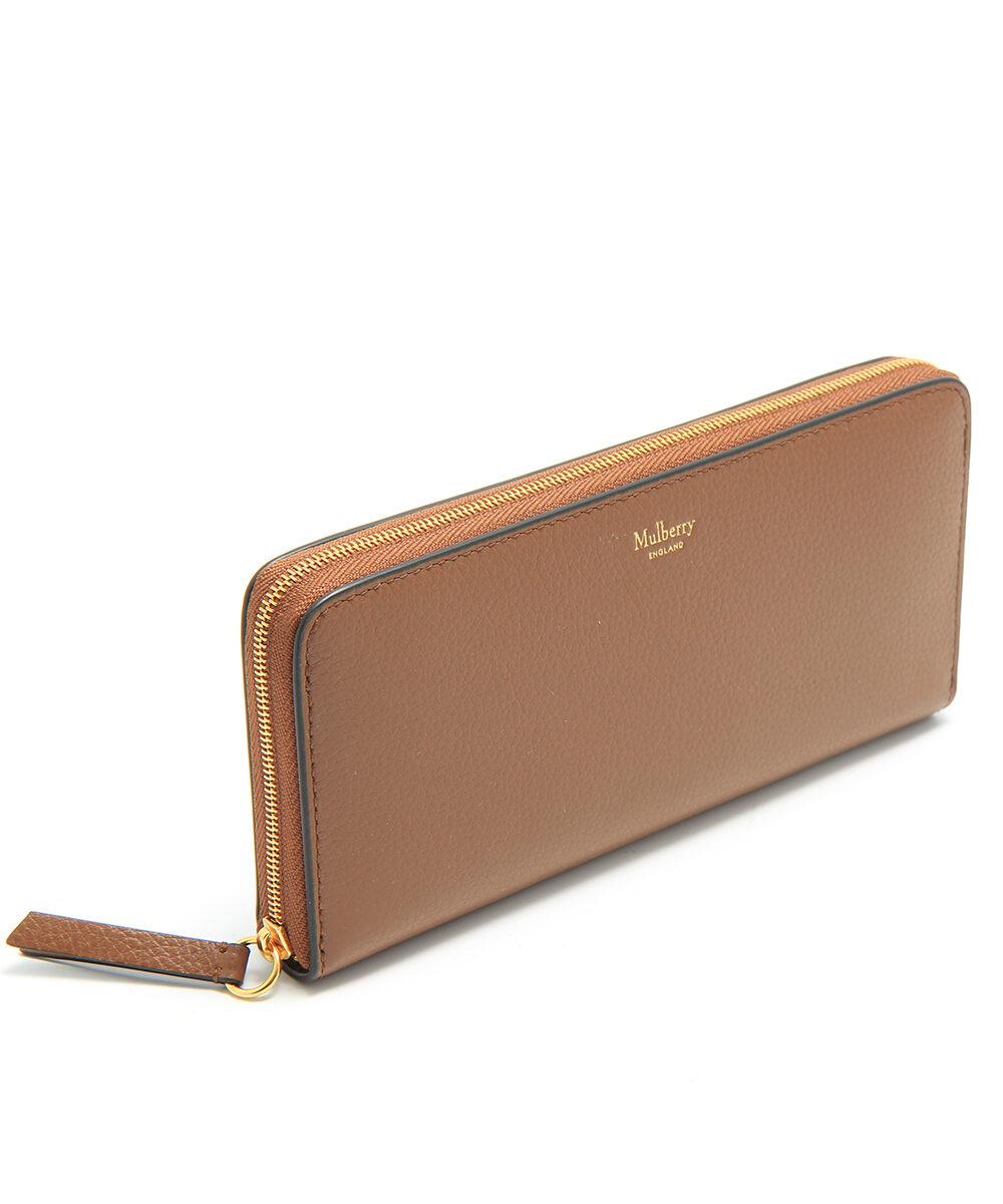 Mulberry-8CC-Zip-Around-Wallet-Oak-RL4887-205G110-side