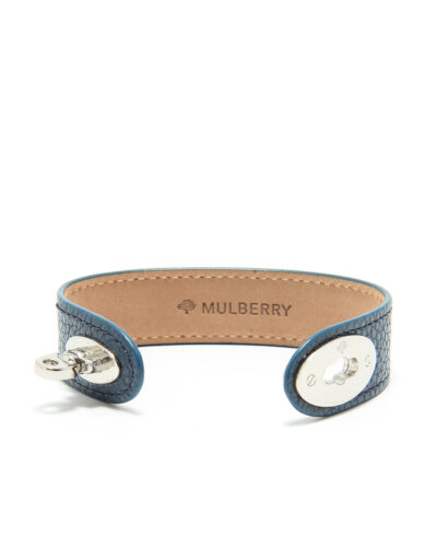 Mulberry Bayswater bracelet armband blått skinn rea sale