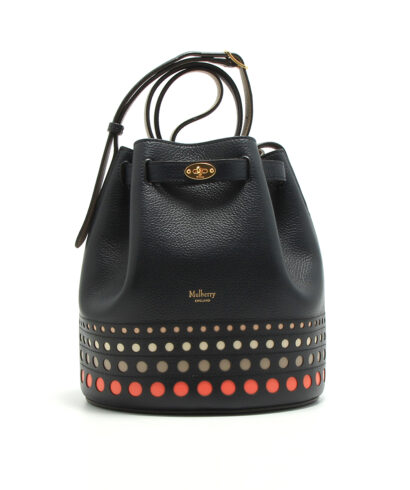 Mulberry-Abbey-Midnight-Perforated-Dots-designerväska rea