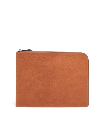 Mulberry-Document-Pouch-Oak-RL4283-342G110-Front