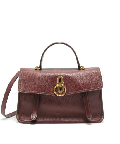 Mulberry-Gracy-Satchel-Burgundy-HH5033-017K120-Front