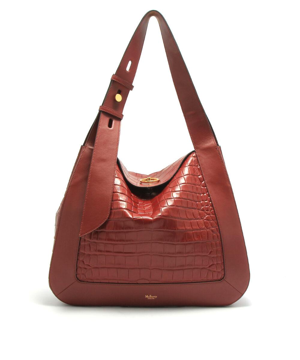 Mulberry-Marloes-Hobo-Croc-Antique-Ruby-designerväska rea