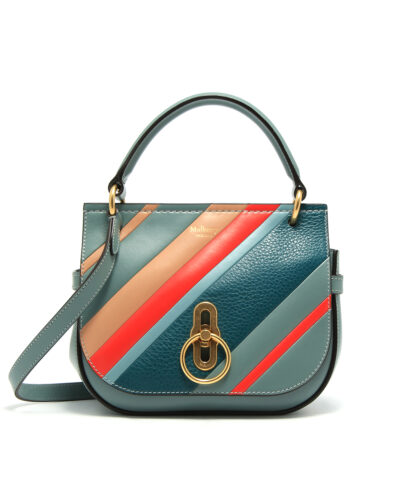 Mulberry-Small-Amberley-Satchel-Diagonal-Stripe-Blue-HH5102-723U111-Front