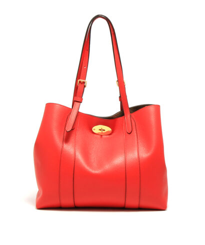 Mulberry-Small-Bayswater-Tote-Ruby-Red-Designerväska Rea