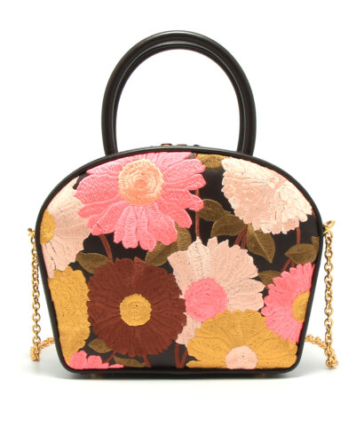 Mulberry-Small-Winslow-Floral-Chocolate-Brown Designerväska Rea