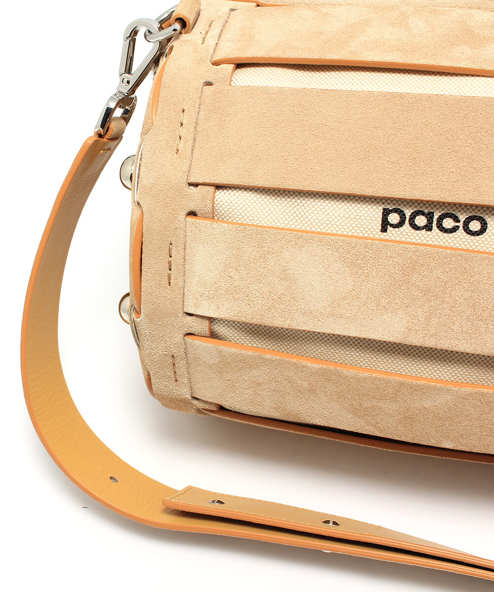 Paco-Rabanne-Bowling-Bag-Big-Suede-18HCAGEBO3SUDSI109-Strap-Detail