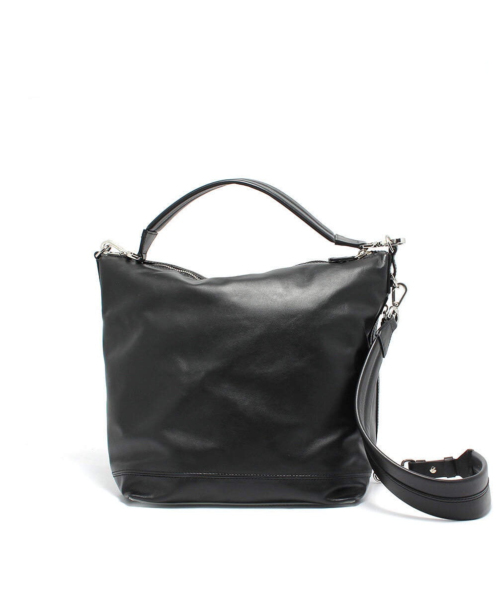 Paco-Rabanne-Flight-Bag-Hobo-Black-Silver-18POUCMH3CBASI0556-Back