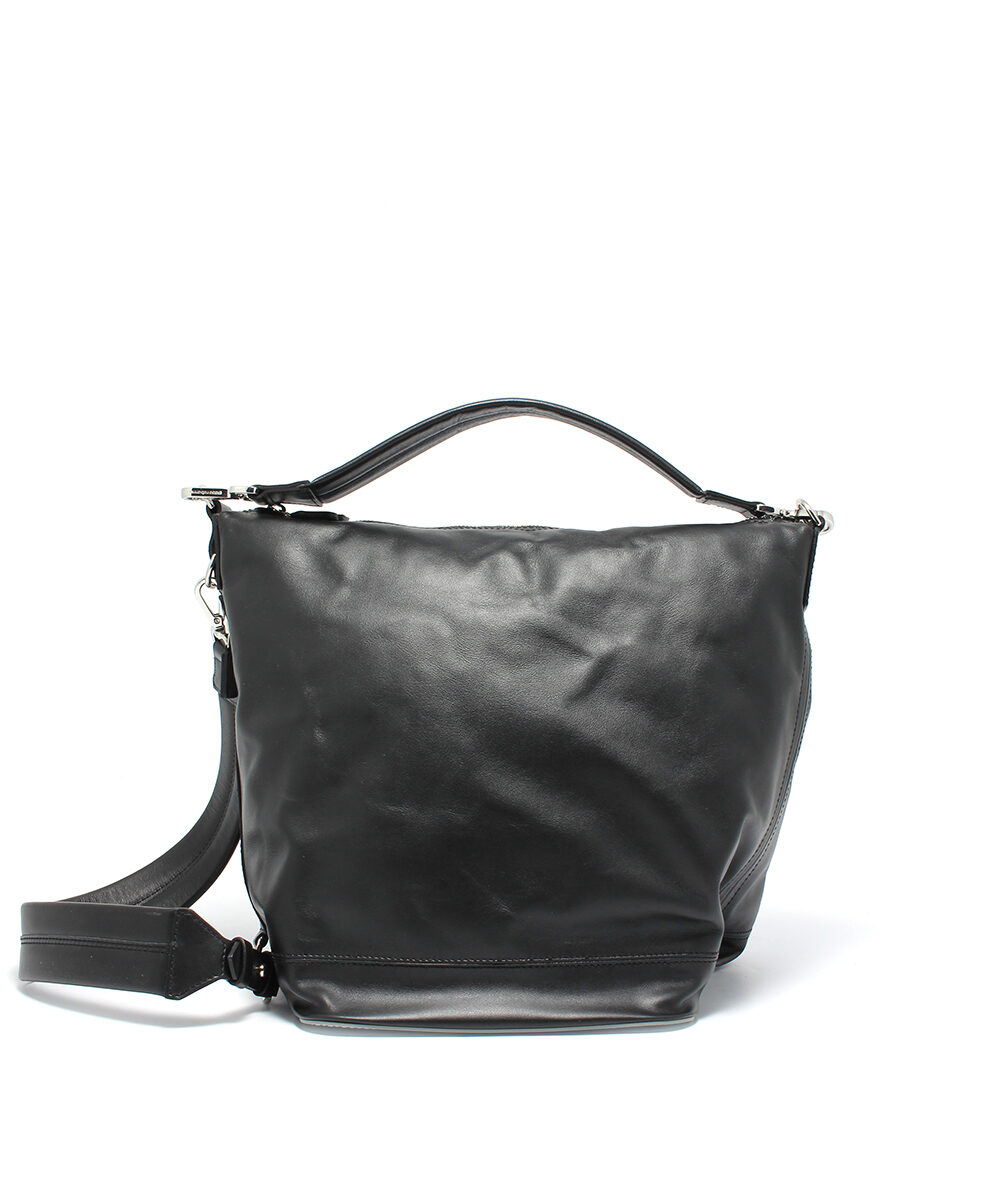 Paco-Rabanne-Flight-Bag-Hobo-Black-Silver-18POUCMH3CBASI0556-Front
