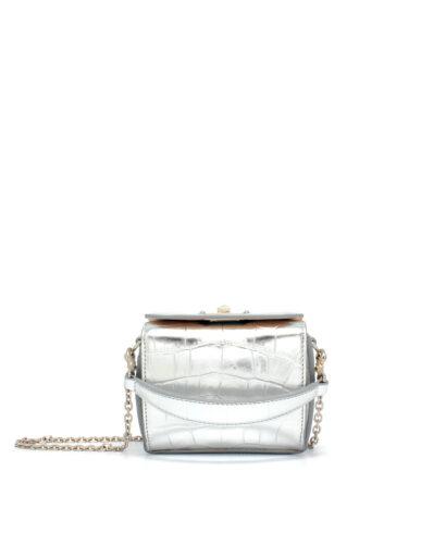 Alexander McQueen-Nano-Bag-Silver-Designerväska Rea