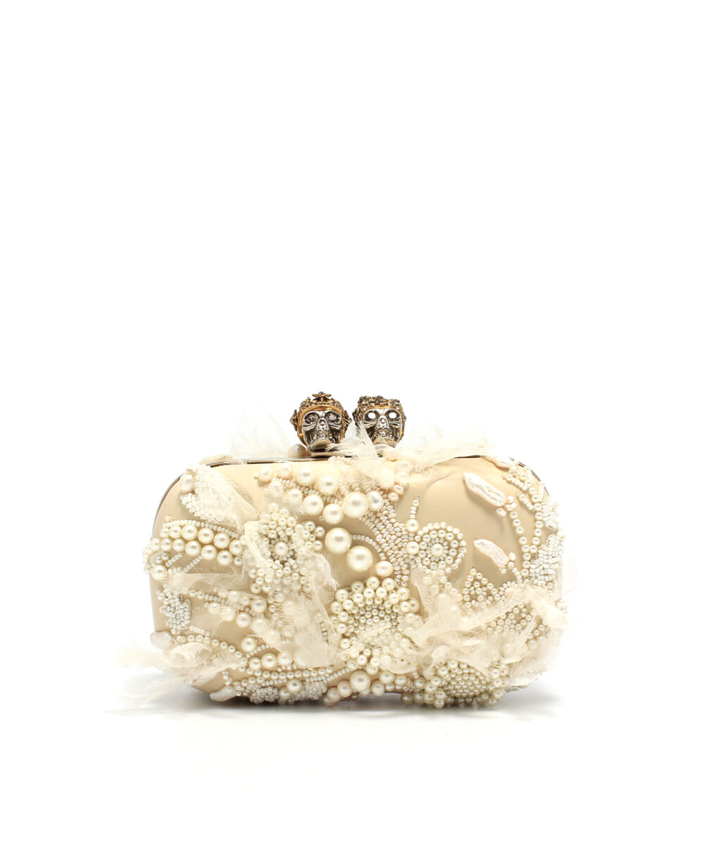 AMQ-Queen-And-King-Skull-Clutch-Designerväska Reat
