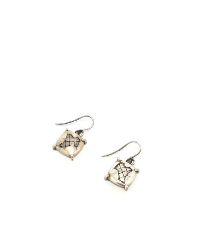 BV-Square-Earrings-Silver-Designersmycke örhänge rea