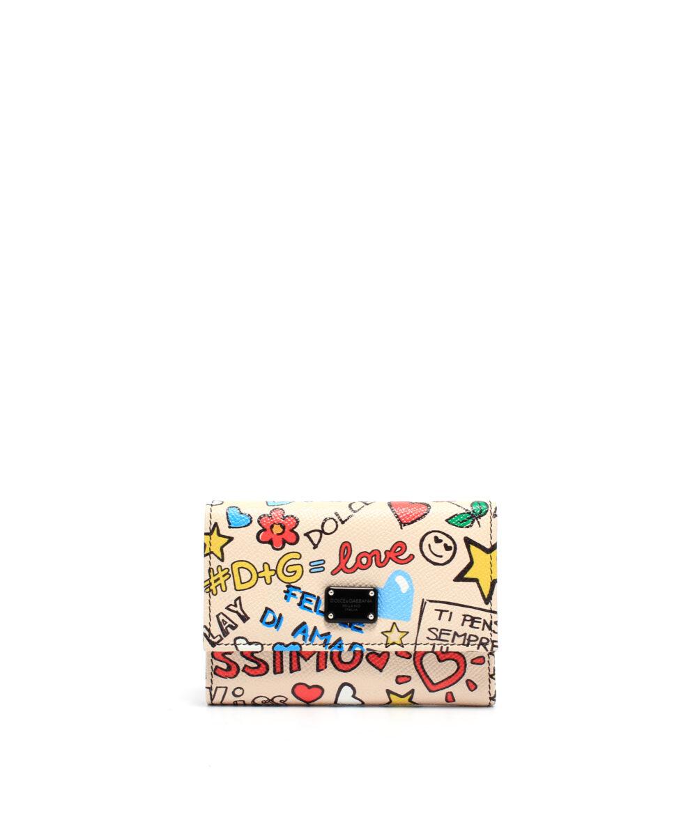 DG-French-Flap-Wallet-Grafitti-Plånbok designer rea