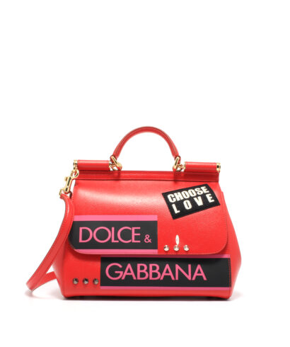 DG-Medium-Sicily-Bag-Patcher-Red-Designerväska Rea