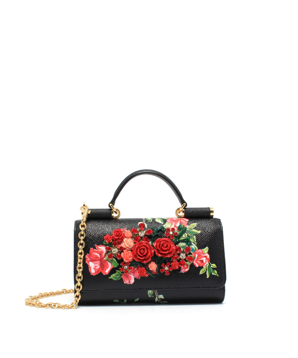 DG-Phone-Bag-Rose-Black-Designerväska Rea