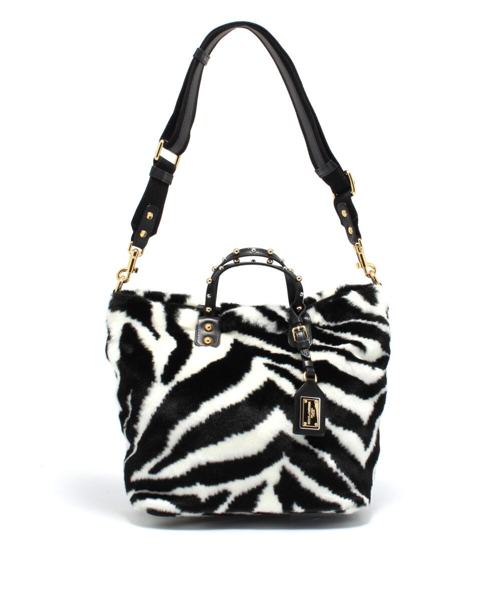 DG-Shopper-Fur-Zebra-Designerväska Rea