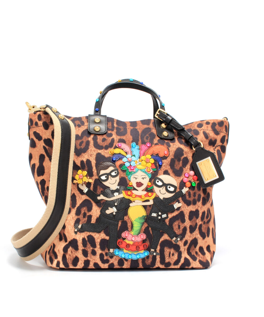 DG-Shopping-Bag-Leo-Patches-Designerväska Rea