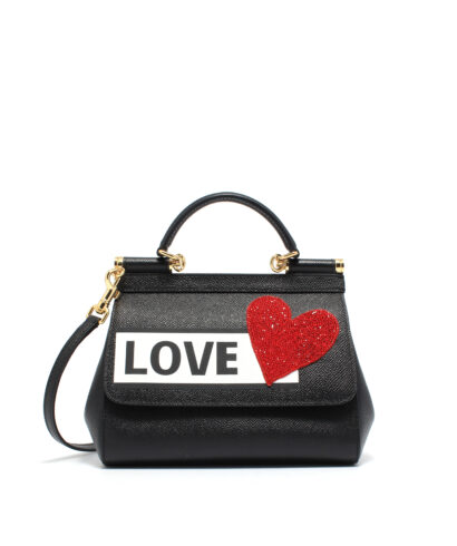 DG-Small-Sicily-Bag-Patches-Black-Designerväska Rea Dolce and gabbana