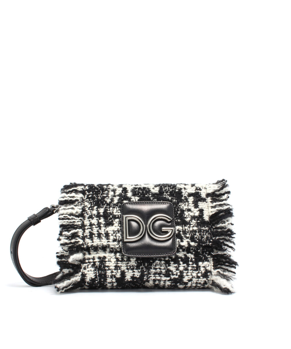 DG-Tweed-Mini-Bag-Blk-Wh-Designerväska Rea