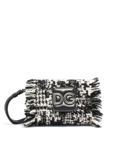 DG-Tweed-Mini-Bag-Blk-Wh-Designerväska Rea