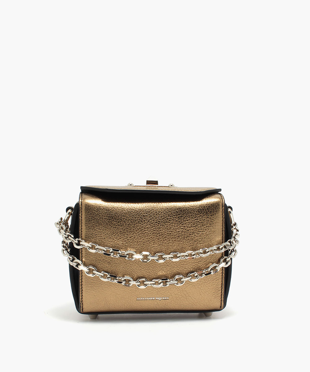 Alexander McQueen Box Bag 16 Metallic Gold