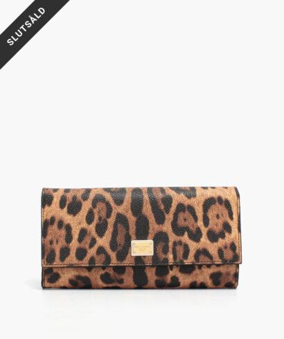 dolce & gabbana rea plånbok leopard