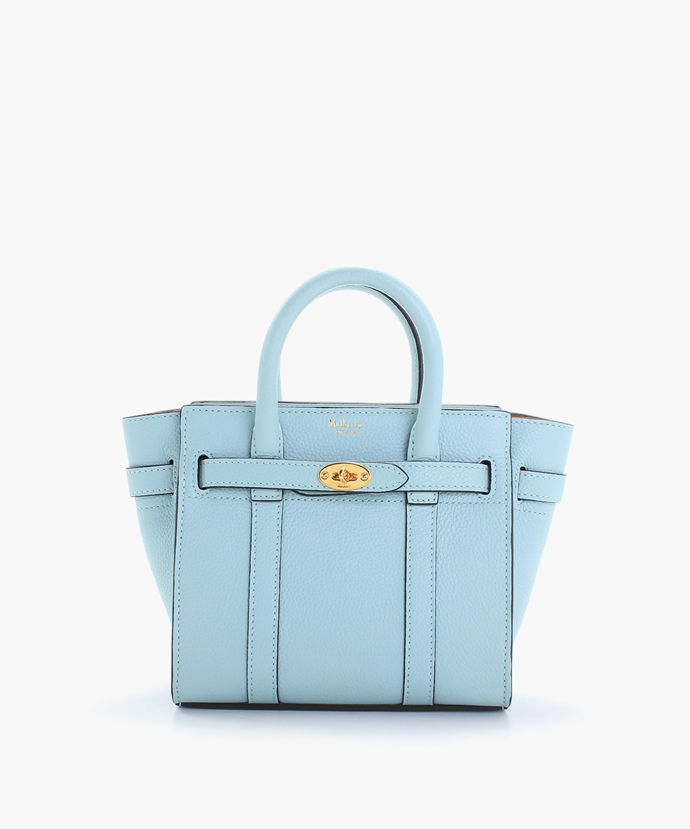 mulberry micro zipped bayswater blue