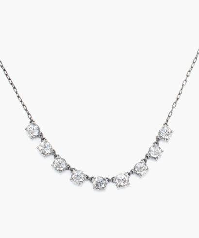 necklace bottega veneta rea sale zirkoner silver